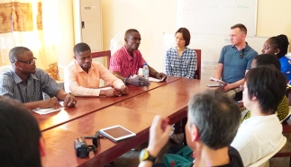 Discussion with lead members of Sierra Leone Association of Ebola Survivors (SLAES) in Freetown